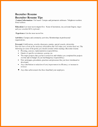 Recruiter Resume Sample Fresh 5 Email Example To Recruiter Simple