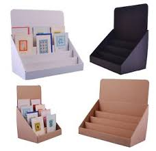 Cardboard Display Stands Australia Cardboard counter top display stands for greeting cards DVD's 51