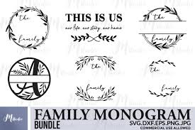 Download your free svg cut file and create your personal diy project with these beautiful quotes or designs. Family Monogram Bundle Svg Free Split Monogram Letters 484069 Cut Files Design Bundles