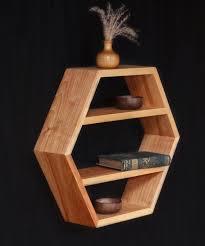 wooden furniture ideas. Mid Century Modern Furniture, Essential Oils Shelf, Hexagon, Honeycomb Kitchen Shelving, Spice Rack, Floating Shelves, 1 XL Hex Shelf Wooden Furniture Ideas