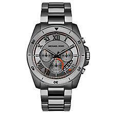 men s michael kors watches ernest jones michael kors men s stainless steel bracelet watch product number 5712351