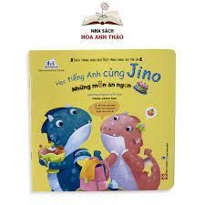 Sách - Học tiếng anh cùng Jino song ngữ Việt Anh dành cho trẻ từ 3 đến 8  tuổi