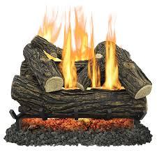 pleasant hearth 24 in 55000 btu dual burner vented gas fireplace logs