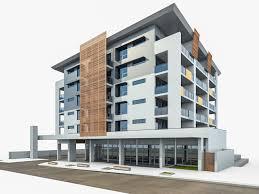 modern residential building. Wonderful Building Modern Apartment Building 03 3d Model Max Obj Mtl 3ds Fbx 2 In Modern Residential Building M