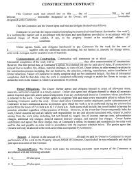 Contract Forms For Construction Home Remodeling Proposal Templates New Construction Contract Free