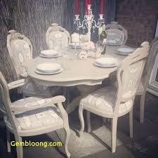 french shabby chic table and 6 louis chairs with bespoke gl table protector