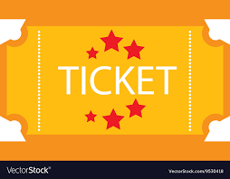 Ticket Stub Isolated Icon Design Royalty Free Vector Image