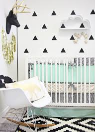 modern mint black and white nursery project nursery