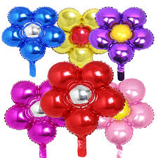 10 piece <b>New Arrival Flower</b> Foil Balloons Lovely Five Disc Flowers ...