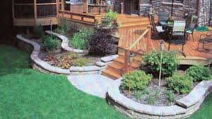 Small Picture Retaining wall landscaping around deck in rockford il r e marshall