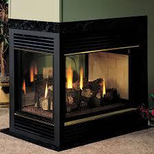 IHP 36 Inch Extruded Aluminum BiFold Doors  BlackFmi Fireplaces