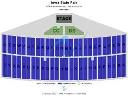 Iowa State Fair Grandstand Seating Chart Iowa State Fair Tickets And Iowa State Fair Seating Charts