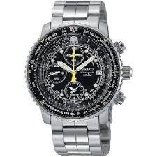 aviator watches for men • stones finds seiko men s sna411 flight alarm chronograph watch