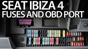 where are fuses and obd2 port in seat ibiza mk4 (on board diagnostic 2009 Subaru Forester Fuse Box at Seat Leon 2009 Fuse Box Diagram
