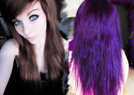 Directions Auf Braunem Haar Dunkles Lila Ombre T Nen Youtube