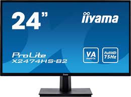"Купить <b>монитор iiyama ProLite X2474HS</b>-<b>B2</b> 23.6"", черный. Цена ..."