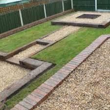 garden design using sleepers. adorable simon cunliffeu0026039s garden design with railway sleepers lgb trains as using