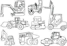 construction equipment coloring pages free printable full size