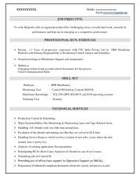 ... Mainframe Resume Sensational For Years Experience Format Experienced  1400 ...