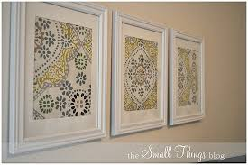 diy framed art 3 napkins from world market and white frames from michaels love this cheap and easy idea  on diy wall art michaels with 3 napkins from world market and white frames from michaels love