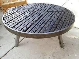 Tire Thread Coffee Table Cheap Man Cave Ideas