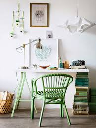 small home office desk. Good Small Home Office White Decorating Ideas Green Chair Desk Made With Books I