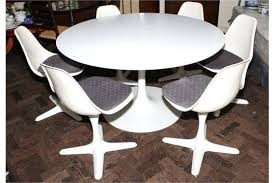 retro style dining table s retro style circular single pillar white dining table with 6 retro