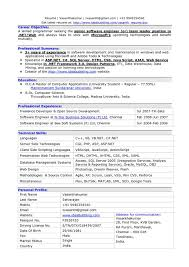 Asp Net Sample Resume Awesome Collection Of Sample Resume For Dot Net Developer Experience 36