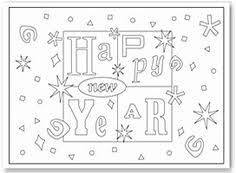 Small Picture Printable Happy New Year coloring page Free PDF download at http