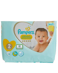 Pampers New Baby Size 2 Carry Pack 31 Nappies