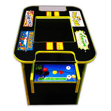 1942 Arcade Cabinet 60 In 1 Multicade Cocktail Two Player Sit Down Arcade Game Pac