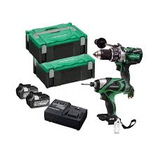 hitachi impact driver 18v. hitachi kc18dpl/ja 18v cordless brushless twin kit combi drill \u0026 impact driver 2x 6.0ah batts | powertool world