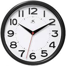 infinity wall clock. infinity instruments metro wall clock, black clock n