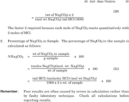 the percentage of na 2 co 3 in the sample is calculated as follows