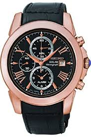 seiko men s grand sport solar rose gold black ssc220p1 amazon seiko men s grand sport solar rose gold black ssc220p1