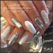 Chrome, glitter and metallic silver by Trai-Sea's Escape Spa ...