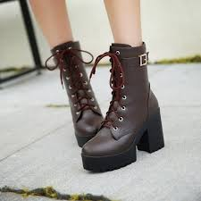 high heel leather boots martin boots buckle lace up las shoes warm winter knee high top quality fur footwear