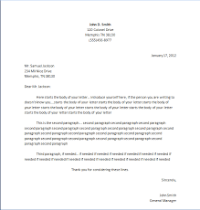 Proper Business Letter Format Printable Sample Proper Business Letter Format Form Real Estate