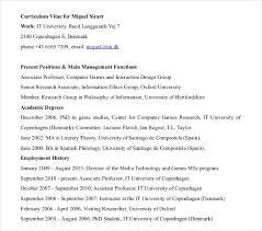 Curriculum Vitae Outline Custom 28 Sample IT Curriculum Vitae Templates PDF DOC Free Premium