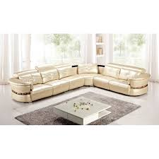 American Eagle Furniture AE L716 CRM Leather Sectional
