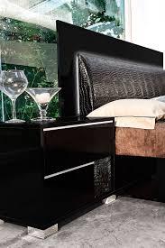 Modern Black Bedroom Modrest Grace Italian Modern Black Bedroom Set