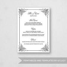 pages menu template 17 best wedding menu templates images on pinterest wedding menu