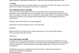 Common Resume Types Resume For Study