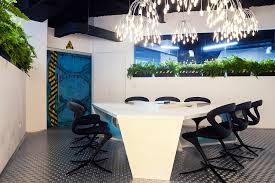 futuristic office design. Gorgeous Workplace Decoration With Extraordinary Theme For Your Worker : Stylish Lighting The Futuristic Office Design