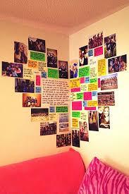 diy wall art ideas heart shaped memory corner is perfect for teen girl room decor
