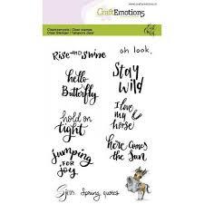 Craftemotions Stempelset Sjors Spring Quotes Frühling Sprüche