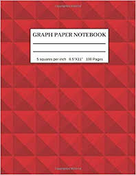 Graph Paper Notebook 5 Squares Per Inch 5x5 Graph Paper