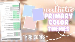 We did not find results for: Aesthetic Primary Color Themes Rgb Number Codes Bloxburg Youtube