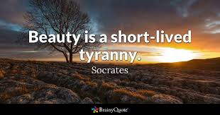Socrates Quotes Amazing Beauty Is A Shortlived Tyranny Socrates BrainyQuote