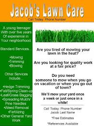 Sample Flyers For Landscaping Business Sample Lawn Care Flyers Magdalene Project Org
